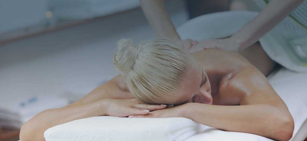 Image of woman getting a massage